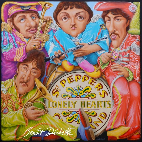 « Sergeant Pepper in a box » ou « Sergeant Pepper's Four-cornered Mystical Club Band » Acrylique sur toile – 200 x 200 cm