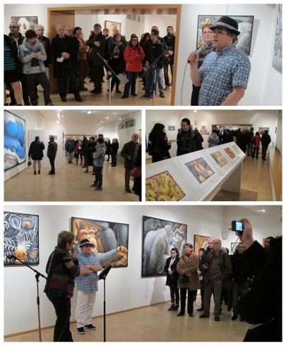 """Vernissage de l'exposition """"Méli-mélo de portraits de tout poil"""" le vendredi 17 janvier 2014 à Saint-Pierre-des-Corps"""