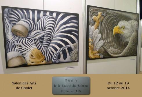 Distinction au Salon de Cholet avec la Médaille des Sciences Lettres et Arts
