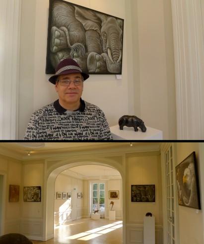 """Prix de peinture à l'exposition """"Faune sauvage"""" de Seine-Port"""