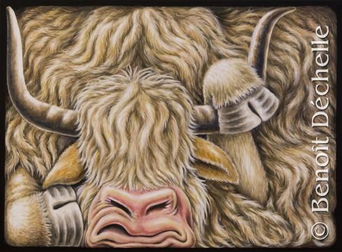 Yack coincé – Acrylique sur toile – 73 x 54 cm – Collection privée