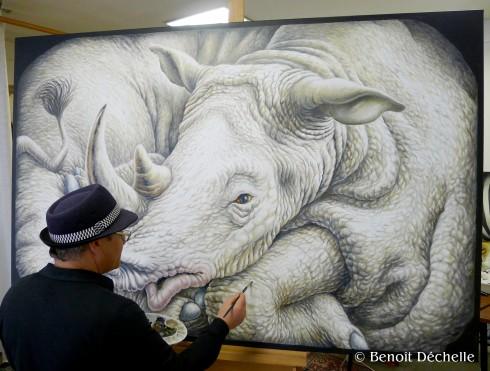 Dechelle-en-atelier-Travail-rhinoceros-coince
