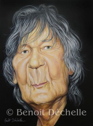 Jacques Higelin - Acrylique sur toile - 73 x 54 cm