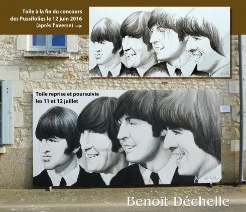 The Beatles - Acrylique sur toile - 2 x 4 m - Pussifolies 2016