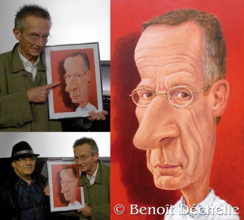 Rencontre avec Patrice Leconte le 31 octobre 2016 Patrice Leconte (caricature) - Acrylique sur toile - 65 x 46 cm