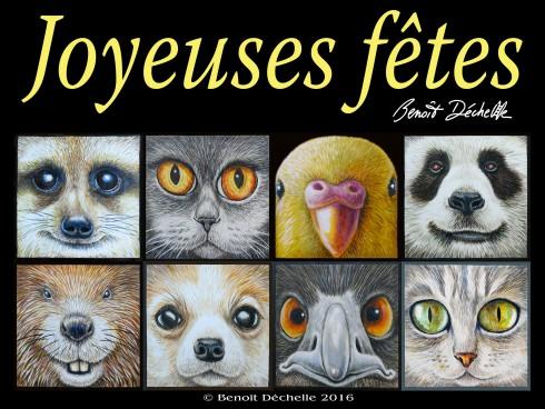 """Galerie de 8 """"Regard d'animaux - Acryliques sur toile - 15 x 15 cm"""