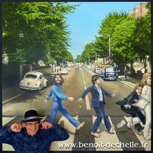 Abbey Road bord cadre (Abbey Road at the frame line) Acrylique sur toile - 200 x 200 cm